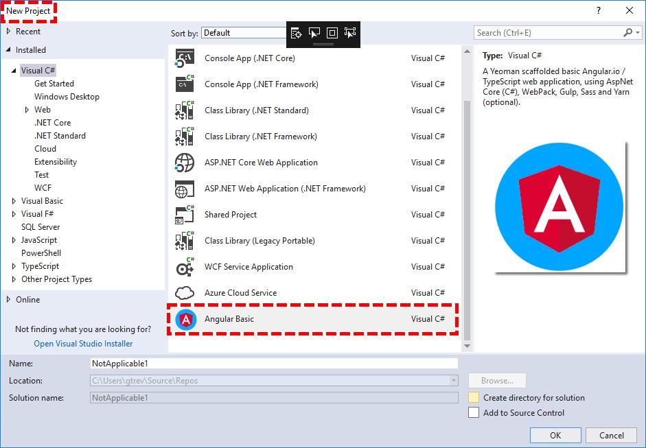 Angular Basic Project Template Visual Studio Marketplace