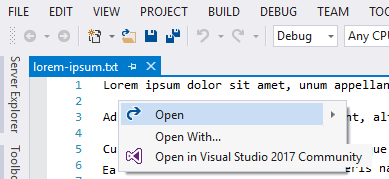 Open in Visual Studio 2017 Community - Visual Studio Marketplace