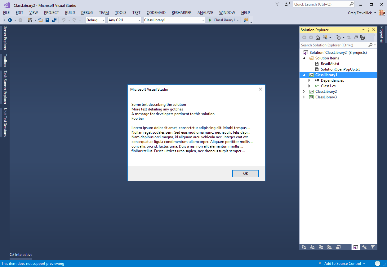 Solution Open Pop Up - Visual Studio Marketplace